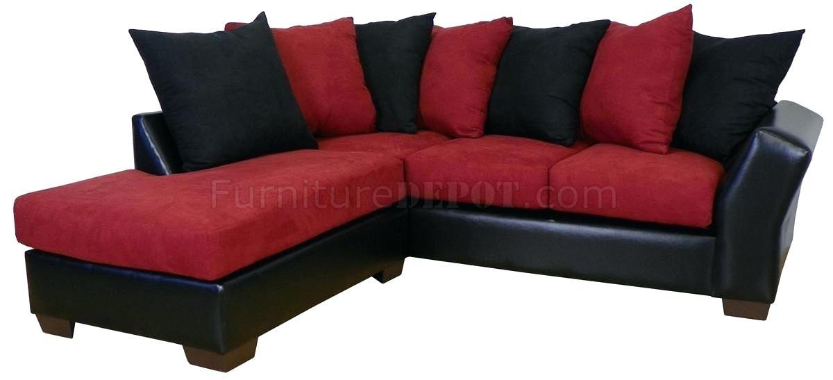 Elegant Black Sectional Sofas For Medium Size Of Sectional Small In Red Black Sectional Sofas (Image 4 of 10)