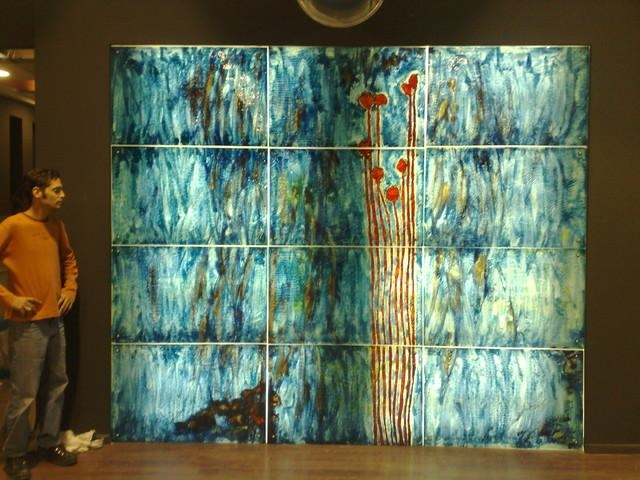 Elegant Glass Wall Decor Wall Decoration Ideas Wall Glass Art Throughout Abstract Fused Glass Wall Art (Image 8 of 20)