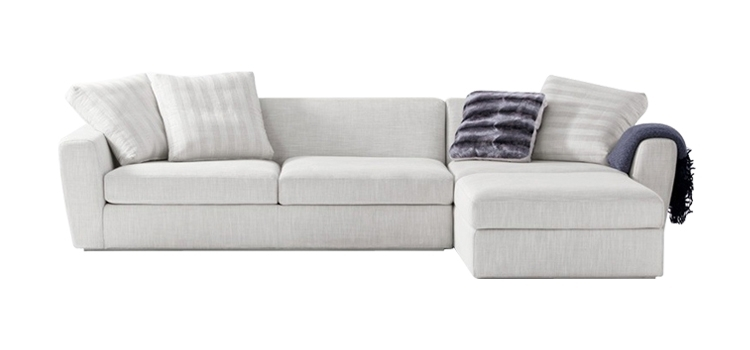 Elegant Off White Fabric Sofa 41 Office Ideas With In Plans 4 Regarding Sydney Sectional Sofas (View 5 of 10)