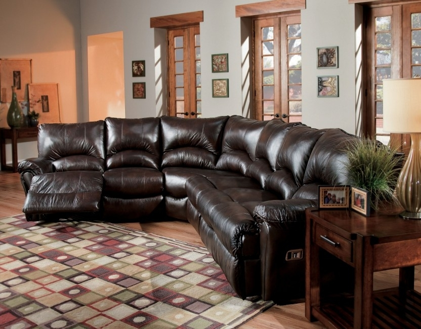 Elegant Reclining Leather Sectional Sofa Alpine Chocolate Pertaining To Chocolate Brown Sectional Sofas (Image 7 of 10)