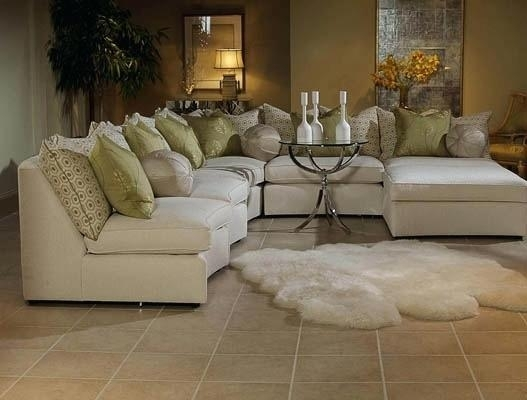 Elegant Sectional Furniture White Elegant Sectional Sofas Set With With Regard To Elegant Sectional Sofas (Image 6 of 10)