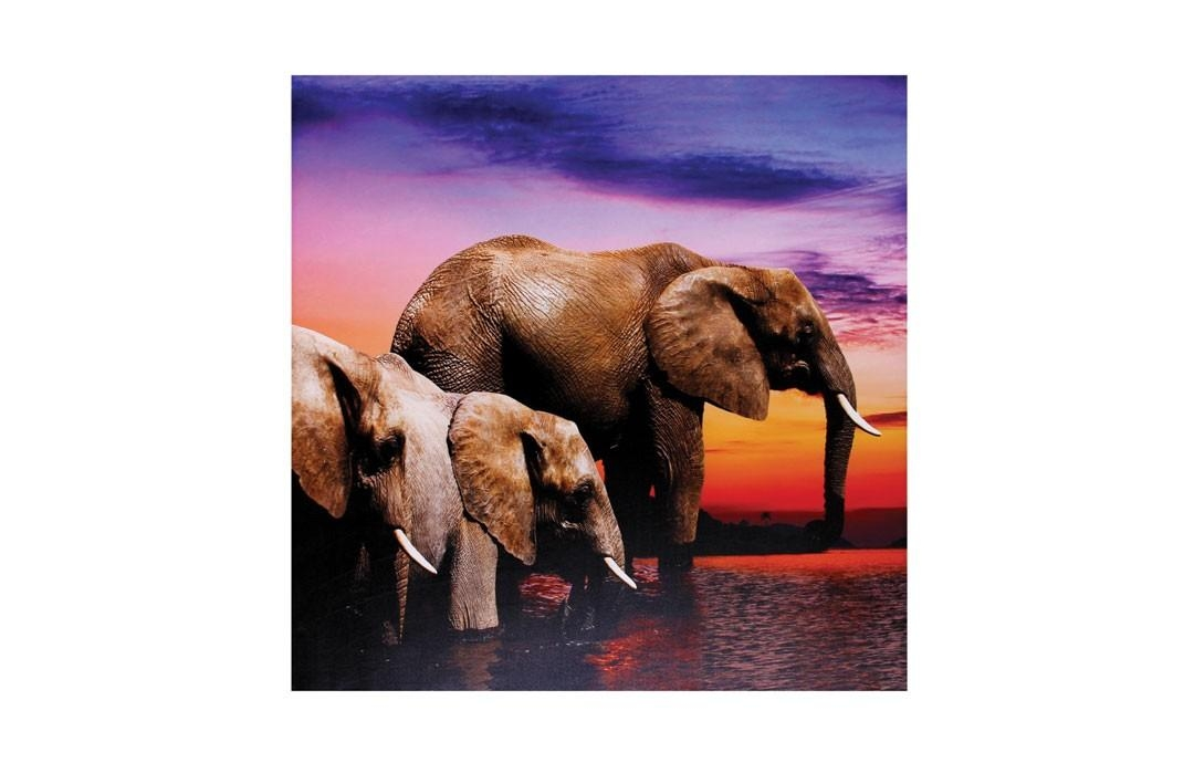 Elephant Wall Art With Jysk Canvas Wall Art (Image 6 of 20)