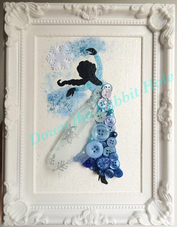 Elsa Button Art Framed Picture … | Pinteres… For Elsa Canvas Wall Art (Photo 18 of 20)