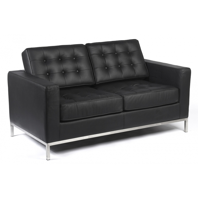 Emejing Black Leather Sofa 2 Seater Ideas – Liltigertoo With Regard To Black 2 Seater Sofas (Image 4 of 10)