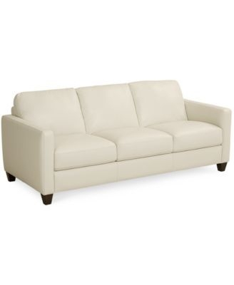 Emilia Leather Sofa, Only At Macy's | Macys. $899 Basement | New Throughout Macys Leather Sofas (Photo 6 of 10)