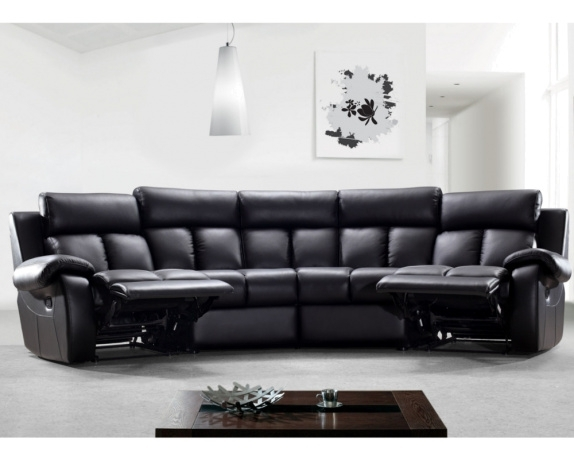 Emma Recliner Sofa | Curved Manual Recliner Sofa | Denelli Italia Regarding Curved Recliner Sofas (View 6 of 10)