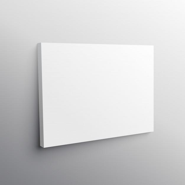 Empty Canvas Mockup Vector | Free Download In Mockup Canvas Wall Art (Photo 7 of 20)