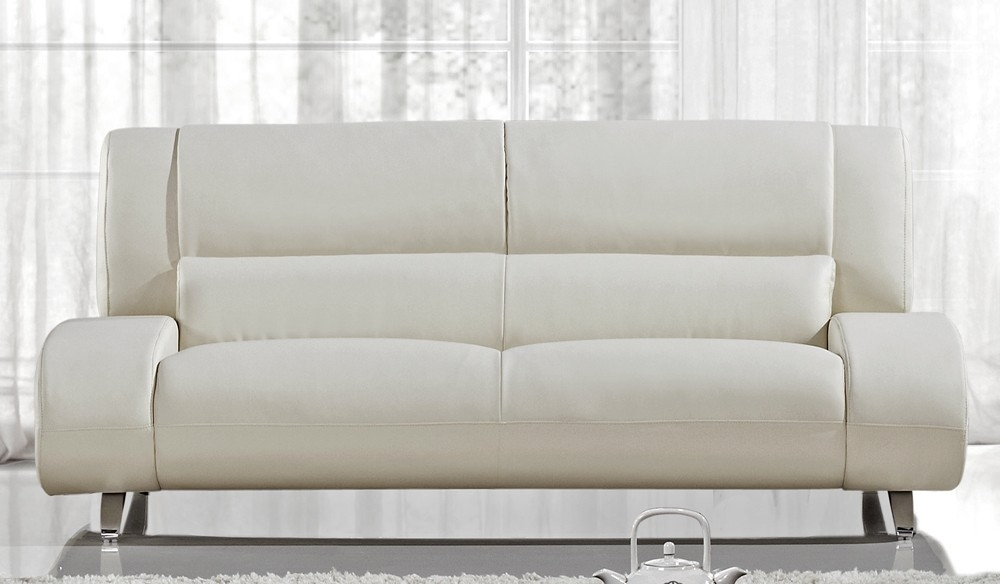 Enchanting Off White Leather Sofa With Modern Throughout Pertaining To Off White Leather Sofas (Image 4 of 10)