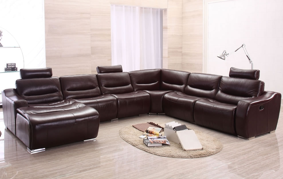 Enchanting Sofa Art Together With Leather U Shaped Sectional Sofa With Regard To Reclining U Shaped Sectionals (Image 1 of 10)