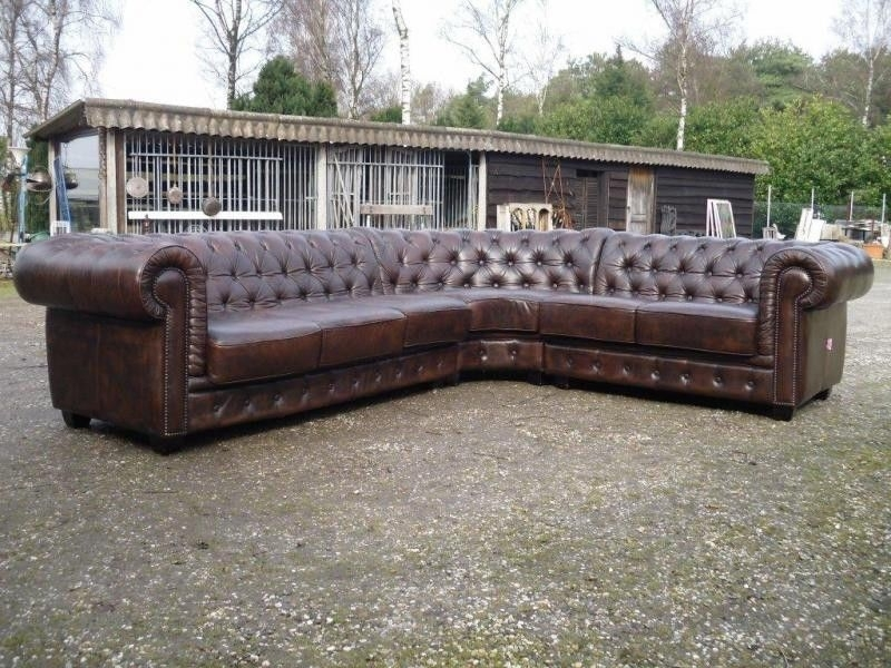 English Chesterfield Sectional Sofa Large Corner Model | Ebay With Sectional Sofas At Ebay (Photo 4 of 10)