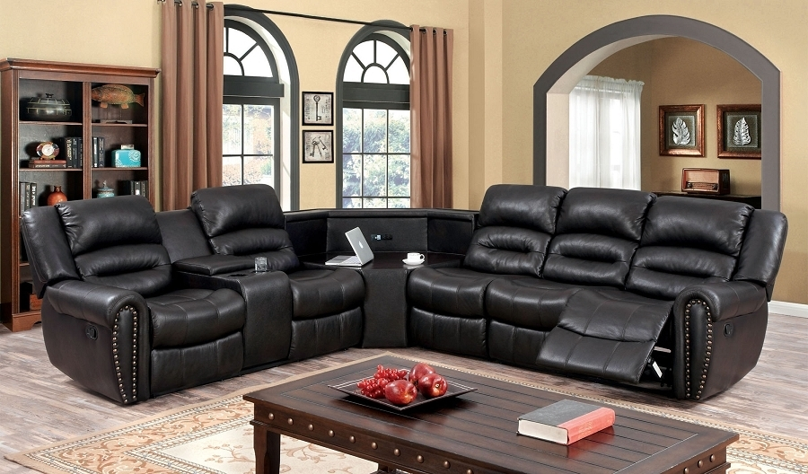 Entranching Sectional Sofas With Recliners And Cup Holders Decorate Regarding Sectional Sofas With Cup Holders (Image 3 of 10)