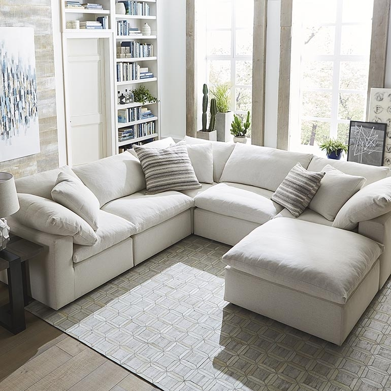 Envelop Small U Shaped Sectional | Bassett Home Furnishings Pertaining To U Shaped Sectionals (Photo 4 of 10)