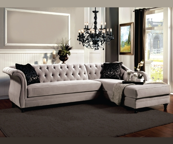 Elegant Epic Tufted Sectional Sofa With Chaise 40 On Sofa Design Ideas With For Tufted  Sectional Sofas