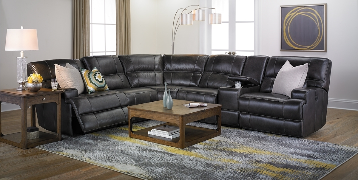 Era Nouveau Top Grain Power Reclining Sectional | Haynes Furniture With Haynes Sectional Sofas (Photo 10 of 10)
