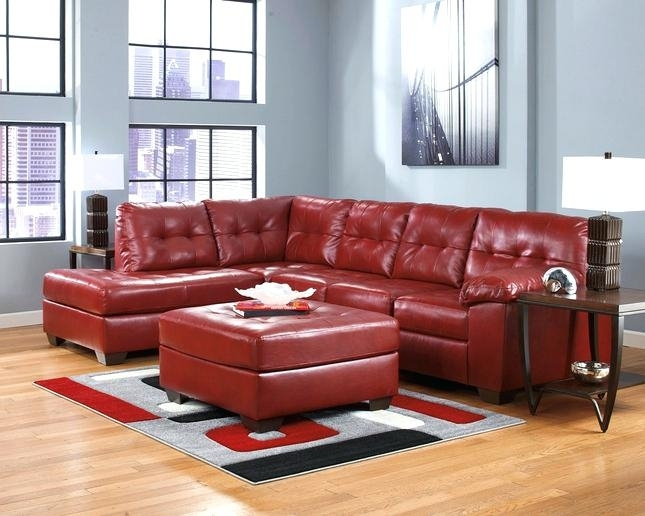 Ergonomic Red Leather Sectional Sofa Design – Gradfly.co Inside Red Leather Sectional Sofas With Recliners (Photo 4 of 10)