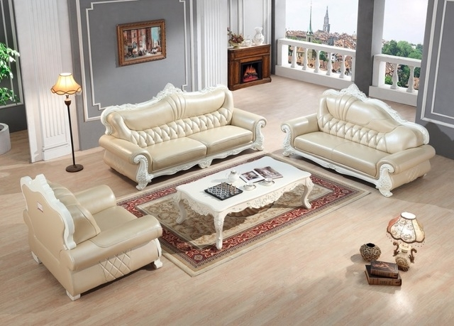 European Leather Sofa Set Living Room Sofa China Wooden Frame Throughout Sectional Sofas From Europe (Image 2 of 10)
