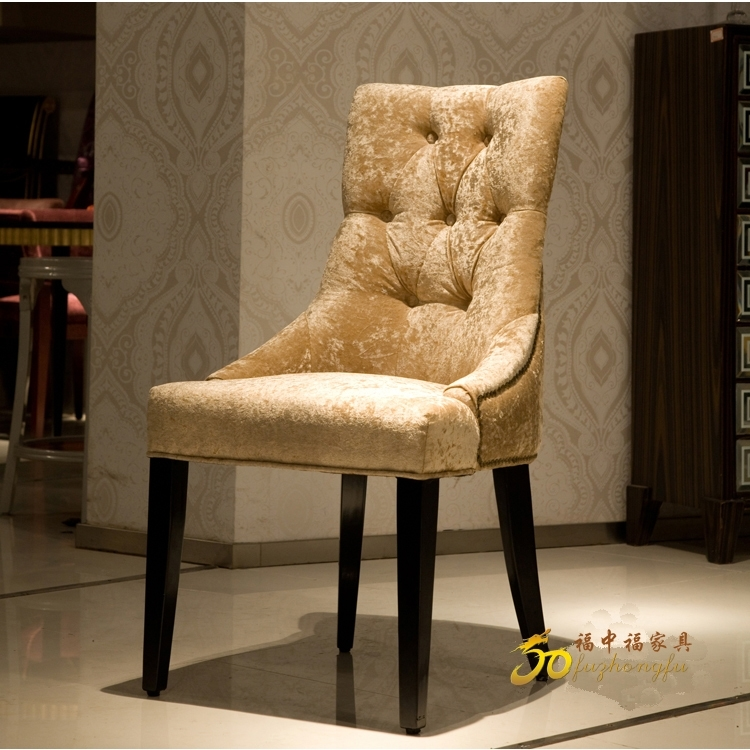 European Neo Classical Wood Dining Chair Fabric Sofa Chair After With Dining Sofa Chairs (Photo 9 of 10)