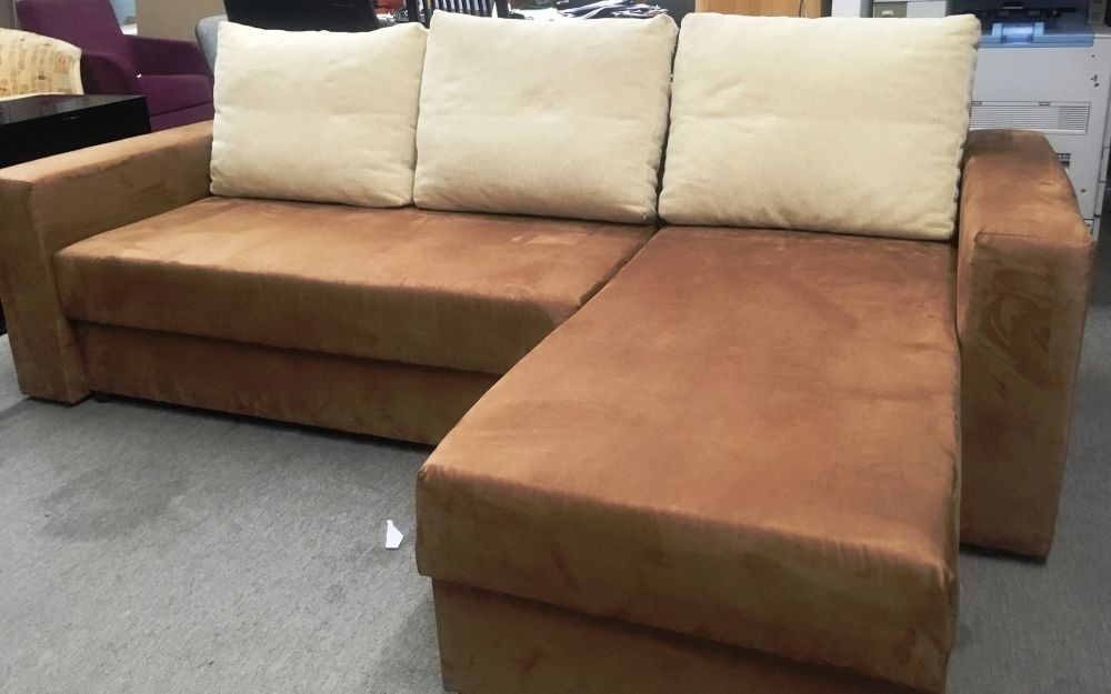 European Sectional Sofa With Bed In Brown Microfiber. Furniture From Throughout Sectional Sofas From Europe (Photo 5 of 10)