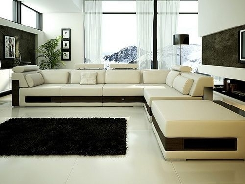 Excellent Luxury Leather Sectional Sofa Bed Sectionals Sleeper Intended For Luxury Sectional Sofas (Photo 7 of 10)