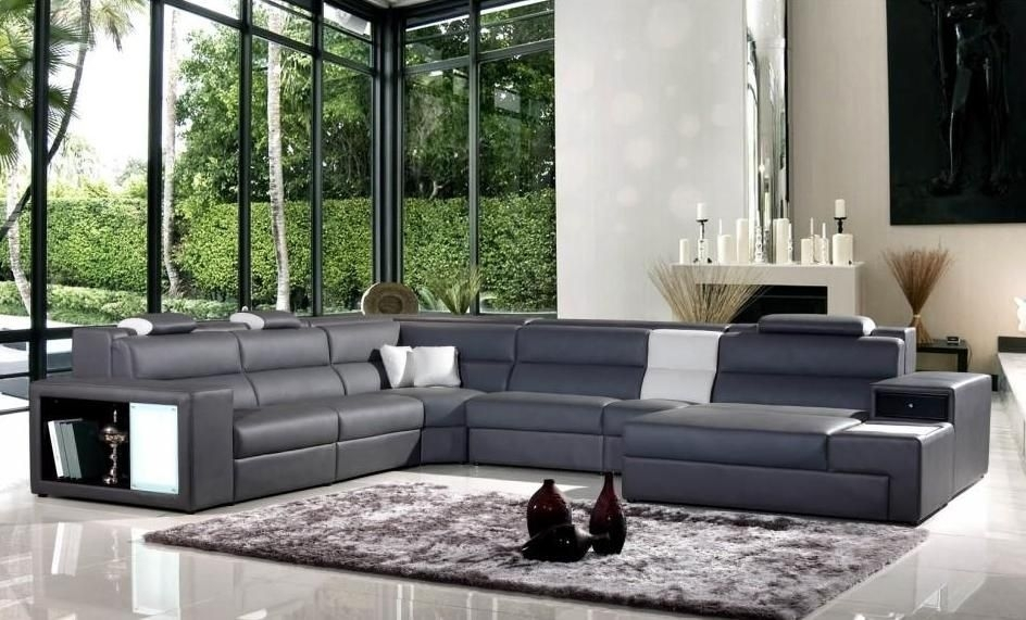 Exotic Half Leather Sectional With Chaise New Orleans Louisiana V For New Orleans Sectional Sofas (Photo 2 of 10)