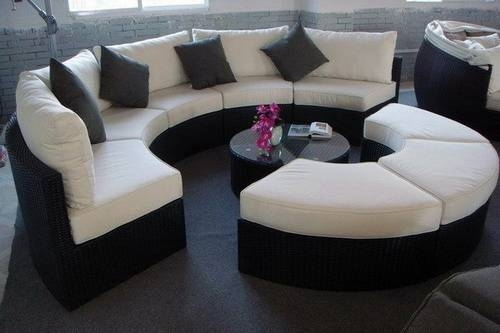 Exotic Round Sectional Sofa Gallery Glamorize Your Living Spaces Intended For Round Sofas (Image 2 of 10)