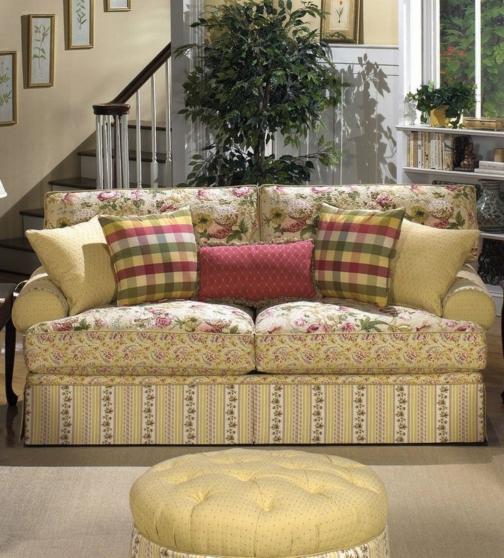 Exotic Sofas And Chairs To Create A Fresh Look – Darbylanefurniture Throughout Yellow Chintz Sofas (Image 5 of 10)