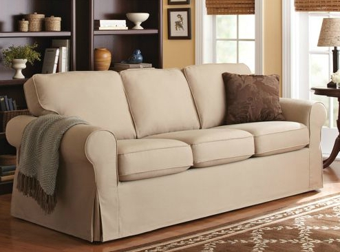Exquisite Pottery Barn Sofa Slipcover Hereo Inside Covers Inside Slipcovers Sofas (View 10 of 10)