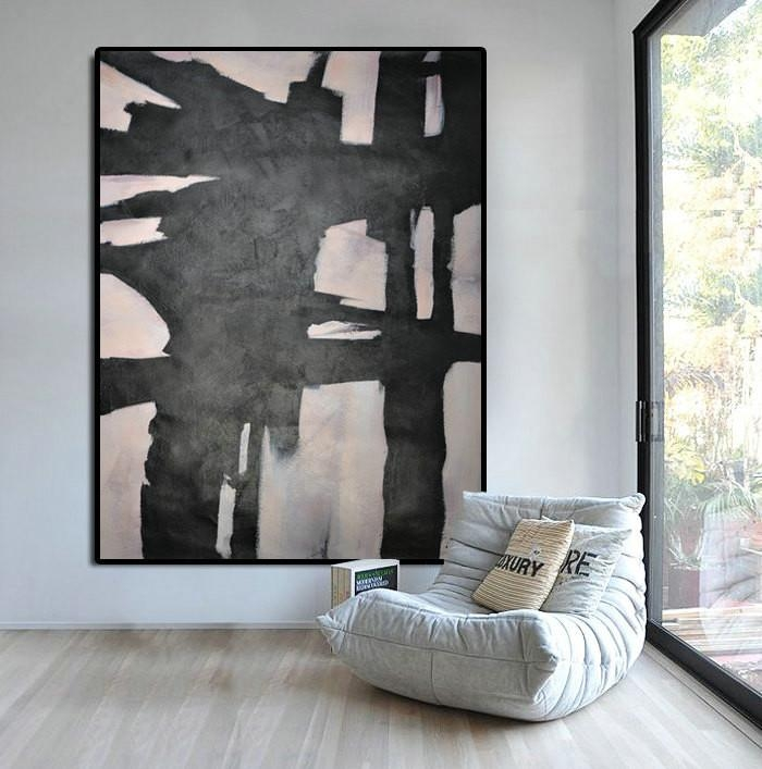 Extra Large Abstract Painting, Horizontal Acrylic Painting Large For Horizontal Abstract Wall Art (View 5 of 20)