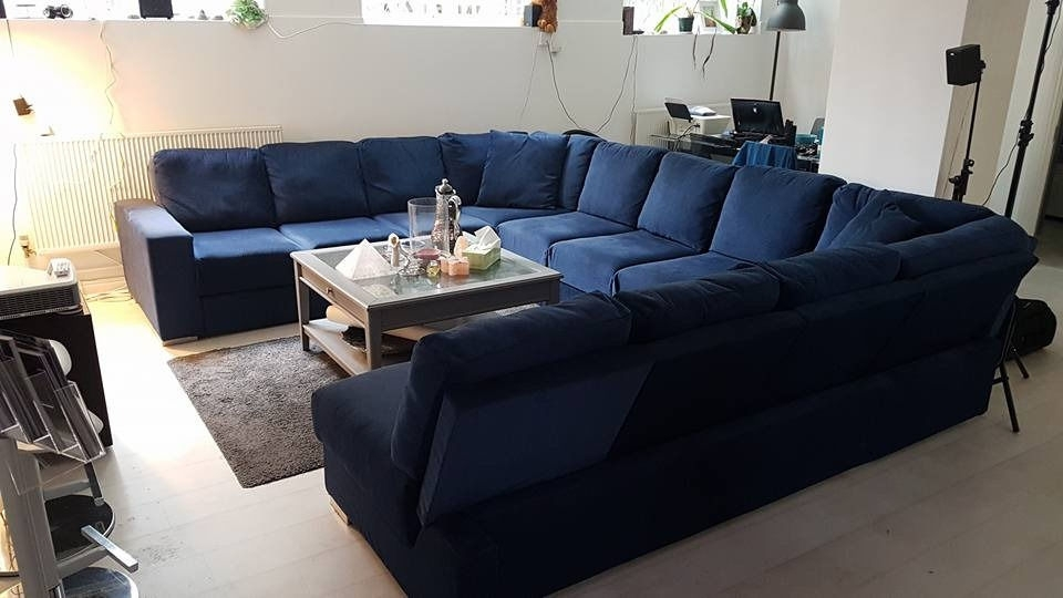 Blue U Shaped Sectionals Sofa Ideas