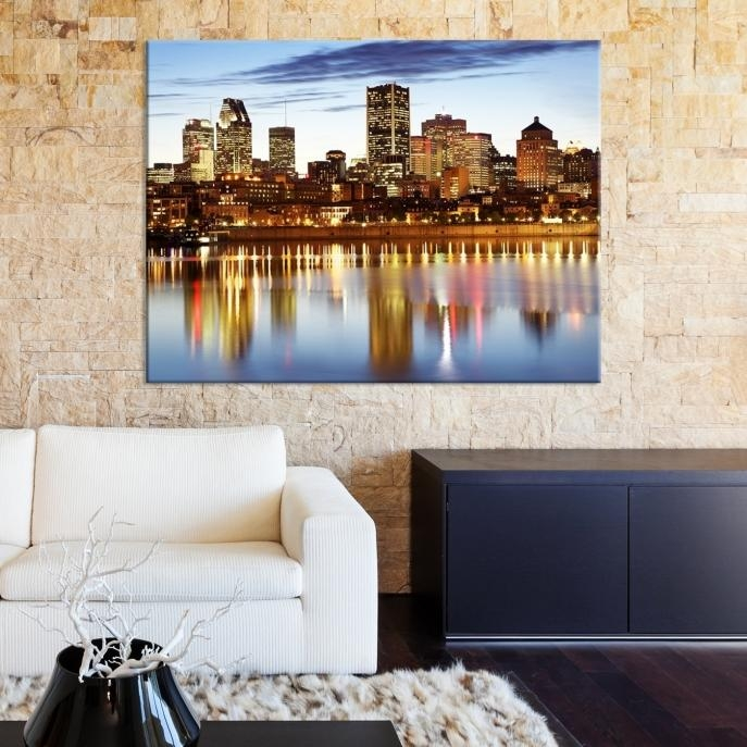 Extra Large Wall Art Montreal Canvas Print – Montreal Skyline Within Montreal Canvas Wall Art (Image 9 of 20)