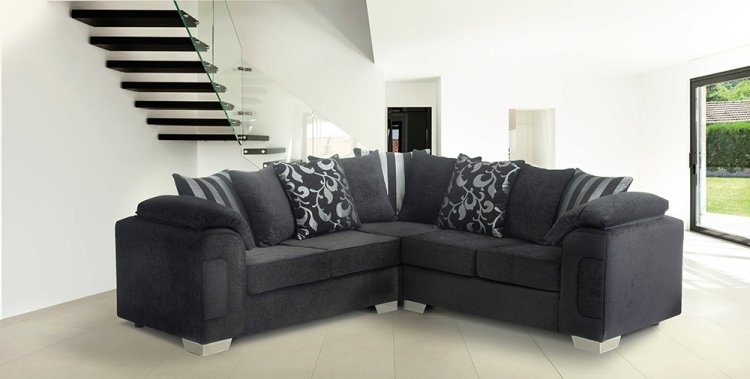 Fabric Corner Sofa With Fabric Corner Sofas (Image 5 of 10)