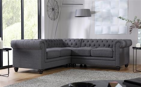 Fabric Corner Sofas – Buy Upholstered Corner Sofas Online For Fabric Corner Sofas (Image 6 of 10)