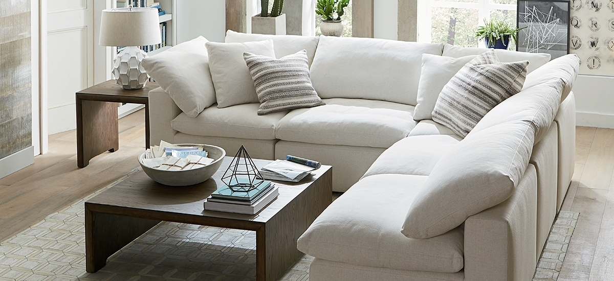 Fabric Sectionals In Armless Sectional Sofa Decorating With Regard To Armless Sectional Sofas (Image 8 of 10)