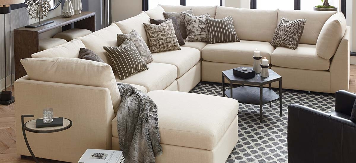 Fabric Sectionals Regarding U Shaped Sectional Sofas (Image 1 of 10)
