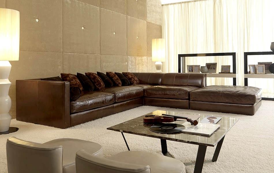 Fabulous Modular Leather Sectional Sofa Distressed Leather Sectional With Regard To Leather Modular Sectional Sofas (Image 4 of 10)