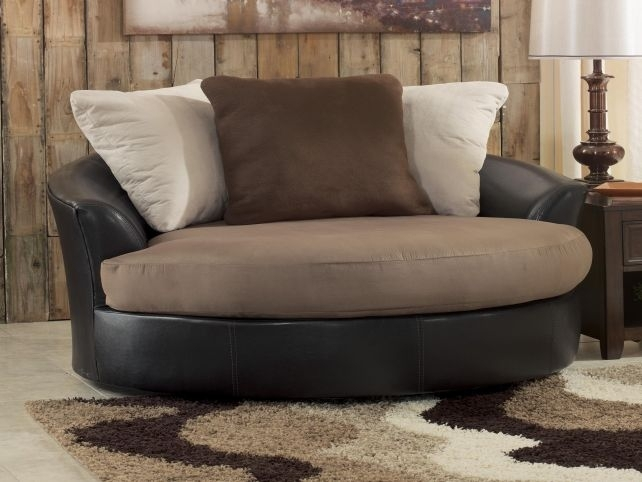 Fabulous Unique Round Sofa Chair Living Room Furniture Swivel Chairs With Round Swivel Sofa Chairs (Image 2 of 10)