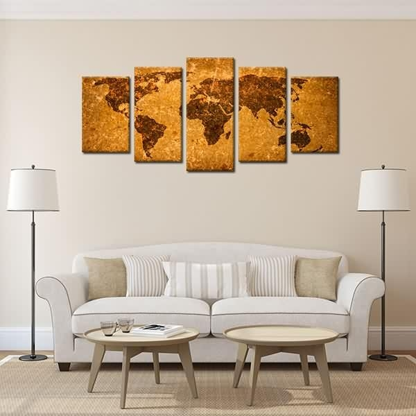 Factory Directly Supply Framedt Wall Art Decor Antique World Map Regarding Ottawa Canvas Wall Art (Image 8 of 20)