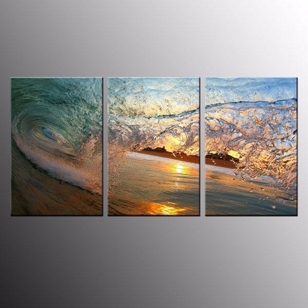 Factory Free Sample Framed Hd Photo Canvas Art Print Wave Wall Art Pertaining To Malaysia Canvas Wall Art (Image 9 of 20)