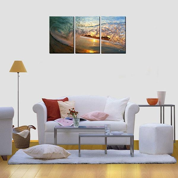 Factory Free Sample Framed Hd Photo Canvas Art Print Wave Wall Art Regarding Malaysia Canvas Wall Art (Image 10 of 20)