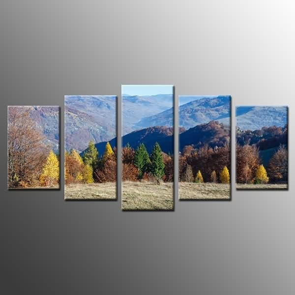 Factory Free Sample Landscape Mountain Canvas Print Picture Oil Throughout Mountains Canvas Wall Art (Image 10 of 20)