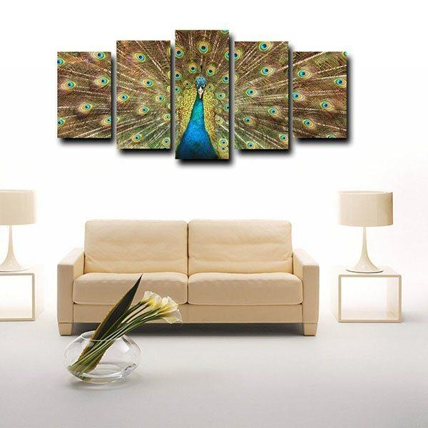 Factory Source Framed Canvas Print For Living Room Big Peacock In Johannesburg Canvas Wall Art (View 4 of 20)