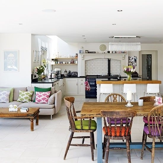 Family Kitchen Design Ideas | Open Plan Kitchen Diner, Open Plan Within Sofas For Kitchen Diner (Photo 2 of 10)