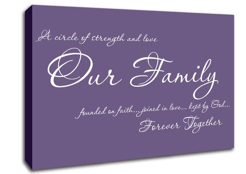 Family Quotes Canvas Art | Wallartdirect.co (Image 2 of 20)