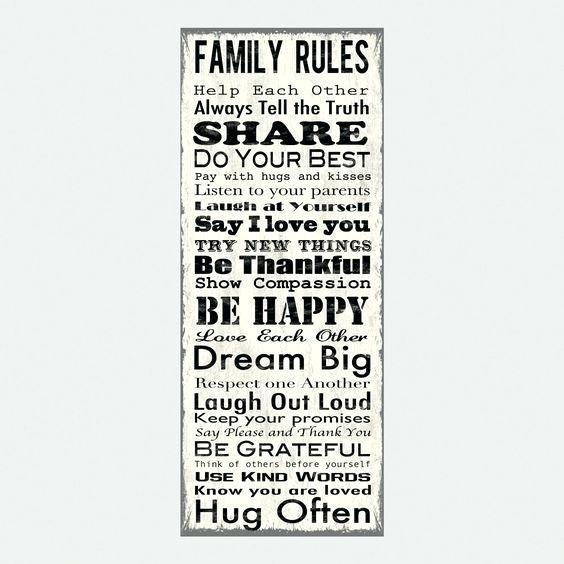 Family Rules Wall Decor Wall Art Decal Family Rules And Canvas Throughout Canvas Wall Art Family Rules (Image 8 of 20)