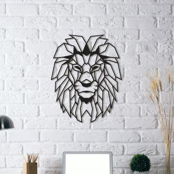 Fancy | Lion Head | Metal Wall Art | Art, Graphic & Prints Regarding Abstract Geometric Metal Wall Art (Image 9 of 20)