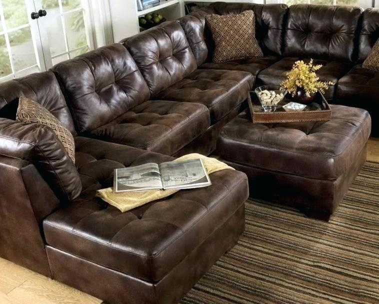 Fancy Sams Club Ottoman Leather Sectional With Ottoman In Aspen Intended For Leather Sectionals With Ottoman (Image 8 of 10)