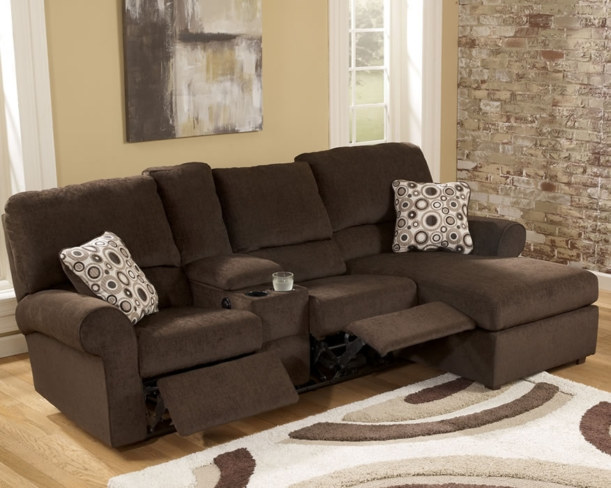 Fancy Small Sectional Sofa With Recliner Reclining Pertaining To With Sectional Sofas For Small Spaces With Recliners (Image 2 of 10)
