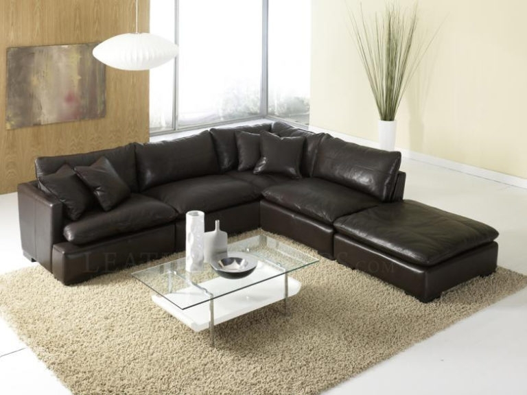 Fantastic Modular Sectional Sofa Leather 21 With Additional Modern With Regard To Leather Modular Sectional Sofas (Image 5 of 10)