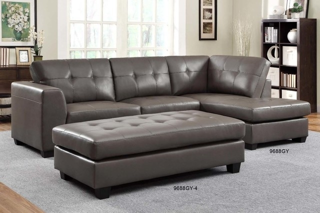 Fantastic Small Leather Sectional Sofas Homelegance Modern Small Inside Small Sectional Sofas With Chaise And Ottoman (Image 6 of 10)