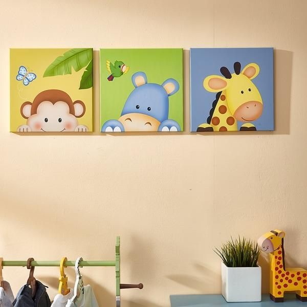 Fantasy Fields Sunny Safari Canvas Wall Art Set – Free Shipping Within Safari Canvas Wall Art (Image 10 of 20)